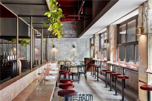合肥餐厅装修:工业风快