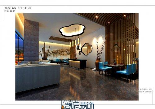 合肥餐厅装修:新中式徽
