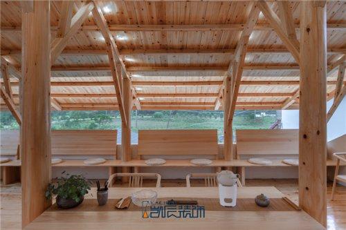 合肥茶楼装修——原木风茶楼