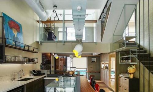 工业风格咖啡馆装修效果图