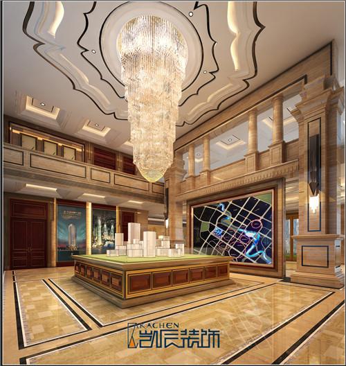 新中式售楼中心装修效果图