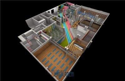 合肥会所装修:1800m²健身房