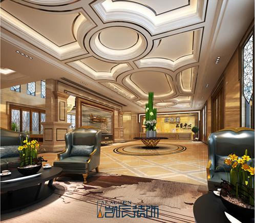 合肥办公楼装修:新中式